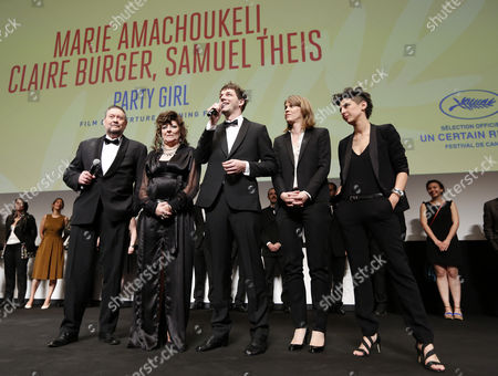 (l-r) French Actor Joseph Bour French Actress Angelique Litzenburger French Co-director Samuel Theis French Co-directors Claire Burger and Marie Amachoukeli Attend the Opening Ceremony of the Un Certain Regard Competition As Part of the 67th Annual Cannes Film Festival in Cannes France 15 May 2014 the Festival Runs From 14 to 25 May France Cannes