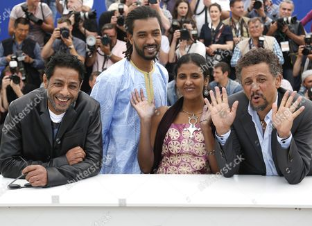 (l-r) Tunisian Actor Hichem Yacoub Actor Ibrahim Ahmed Aka Pino Actress Toulou Kiki and Tunisian Actor Abel Jafri Pose During the Photocall For 'Timbuktu' at the 67th Annual Cannes Film Festival in Cannes France 15 May 2014 the Movie is Presented in the Official Competition of the Festival Which Runs From 14 to 25 May France Cannes