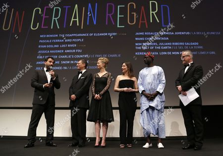 (l-r) Argentinian Director Pablo Trapero President of the Criterion Collection Peter Becker Norwegian-swedish Actress Maria Bonnevie French Actress Geraldine Pailhas Senegalese Director Moussa Toure and General Delegate Thierry Fremaux Attend the Opening Ceremony of the Un Certain Regard Competition As Part of the 67th Annual Cannes Film Festival in Cannes France 15 May 2014 the Festival Runs From 14 to 25 May France Cannes