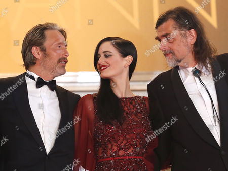 (l-r) Danish Actor Mads Mikkelsen French Actress Eva Green and Danish Director Kristian Levring Arrive For the Screening of 'The Salvation' During the 67th Annual Cannes Film Festival in Cannes France 17 May 2014 the Movie is Presented out of Competition at the Festival Which Runs From 14 to 25 May France Cannes
