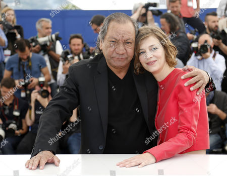 French Director Tony Gatlif (l) and French Actress Celine Sallette (r) Pose During the Photocall For 'Geronimo' at the 67th Annual Cannes Film Festival in Cannes France 20 May 2014 the Movie is Presented in the Section Special Screenings of the Festival Which Runs From 14 to 25 May France Cannes