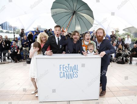 (l-r) Actress Clara Wettergren Actress Fanni Metelius Swedish Actor Johannes Bah Kuhnke Swedidh Director Ruben Ostlund Norwegian Actress Lisa Loven Kongsli Actor Vincent Wettergren and Norwegian Actor Kristofer Hivju Pose During the Photocall For 'Turist' at the 67th Annual Cannes Film Festival in Cannes France 19 May 2014 the Movie is Presented in the Section Un Certain Regard of the Festival Which Runs From 14 to 25 May France Cannes