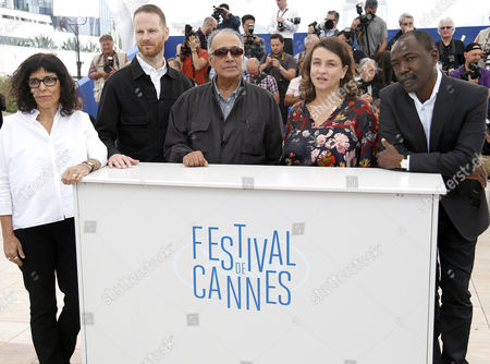 (l-r) Jury Members Brazilian Director Daniela Thomas Norwegian Director Joachim Trier Iranian Director Abbas Kiarostami French Director Noemie Lvovsky and Chadian Director Mahamat-saleh Haroun Pose During the Photocall of the Cinefondation and Short Films Jury at the 67th Annual Cannes Film Festival in Cannes France 22 May 2014 the Festival Runs From 14 to 25 May France Cannes