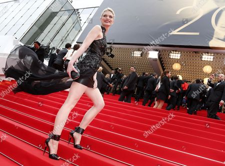 French Model Sarah Marshall Arrives For the Screening of 'Foxcatcher' During the 67th Annual Cannes Film Festival in Cannes France 19 May 2014 the Movie is Presented in the Official Competition of the Festival Which Runs From 14 to 25 May France Cannes
