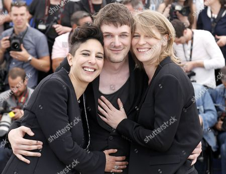 French Co-directors (l-r) Marie Amachoukeli Samuel Theis and Claire Burger Pose During the Photocall For 'Party Girl' at the 67th Annual Cannes Film Festival in Cannes France 15 May 2014 the Movie is Presented in the Section Un Certain Regard of the Festival Which Runs From 14 to 25 May France Cannes