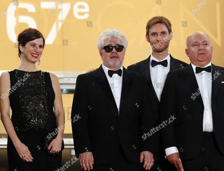 Argentine Actress Maria Marull (l) Spanish Producer Pedro Almodovar (2-l) Argentine Director Damian Szifron (2-r) and Spanish Producer Agustin Almodovar (r) Arrive For the Screening of 'Relatos Salvajes' (wild Tales) During the 67th Annual Cannes Film Festival in Cannes France 17 May 2014 the Movie is Presented in the Official Competition of the Festival Which Runs From 14 to 25 May France Cannes