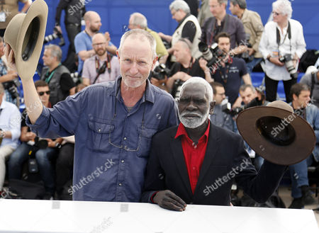 Stock Photo of Dutch Australian Director Rolf De Heer (l) and Yolngu Man Aboriginal Peter Djigirr (r) Pose During the Photocall For 'Charlie's Country' at the 67th Annual Cannes Film Festival in Cannes France 23 May 2014 the Movie is Presented in the Section Un Certain Regard of the Festival Which Runs From 14 to 25 May France Cannes