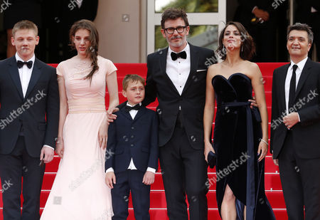 (l-r) Actor Maxim Emelianov Actress Zukhra Duishvili Actor Abdul-khalim Mamatsuiev French Director Michel Hazanavicius French Actress Berenice Bejo and French Producer Thomas Langmann Arrive For the Screening of 'The Search' During the 67th Annual Cannes Film Festival in Cannes France 21 May 2014 the Movie is Presented in the Official Competition of the Festival Which Runs From 14 to 25 May France Cannes