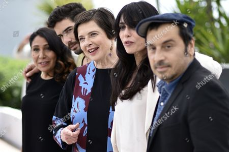 Jury Members (l-r) Saudi Director Haifaa Al-mansour French Actor Tahar Rahim Italian Actress Isabella Rossellini Lebanese Actress Nadine Labaki and Greek Director Panos H Koutras Attend the Photocall of the Un Certain Regard Jury at the 68th Annual Cannes Film Festival in Cannes France 14 May 2015 the Festival Runs From 13 to 24 May France Cannes