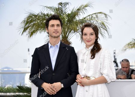 French Actress Anais Demoustier (r) and French Actor Jeremie Elkaim (l) Pose During the Photocall For 'Marguerite and Julien' at the 68th Annual Cannes Film Festival in Cannes France 19 May 2015 the Movie is Presented in the Official Competition of the Festival Which Runs From 13 to 24 May France Cannes