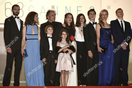 French Actor Jeremie Elkaim (3-r) French Director Valerie Donzelli (4-r) French Actress Anais Demoustier (4-l) and Guests Arrive For the Screening of 'Marguerite and Julien' During the 68th Annual Cannes Film Festival in Cannes France 19 May 2015 the Movie is Presented in the Official Competition of the Festival Which Runs From 13 to 24 May France Cannes