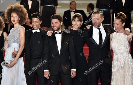 (l-r) French Actress Chrystele Saint Louis Augustin French Actor Nabil Kechouhen French Actor Abdel Addala French Director Maiwenn French Actor Vincent Cassel and French Actress Emmanuelle Bercot Arrive For the Screening of 'Mon Roi' During the 68th Annual Cannes Film Festival in Cannes France 17 May 2015 the Movie is Presented in the Official Competition of the Festival Which Runs From 13 to 24 May France Cannes
