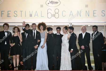 (l-r) French Actor Norman Thavaud French Actress Amanda Added French Actor Louis Garrel French Actor Vincent Cassel French Actress Chrystele Saint Louis Augustin French Director Maiwenn French Actor Nabil Kechouhen French Actress Emmanuelle Bercot French Actor Abdel Addala Guest and French Producer Alain Attal Arrive For the Screening of 'Mon Roi' During the 68th Annual Cannes Film Festival in Cannes France 17 May 2015 the Movie is Presented in the Official Competition of the Festival Which Runs From 13 to 24 May France Cannes