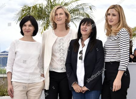 (l-r) Romanian Producer Marcela Ursu Russian Producer Nadia Turincev French Producer Sylvie Pialat and French Actress and Producer Julie Gayet Pose During the Photocall For 'Comoara' (treasure) at the 68th Annual Cannes Film Festival in Cannes France 21 May 2015 the Movie is Presented in the Section Un Certain Regard of the Festival Which Runs From 13 to 24 May France Cannes