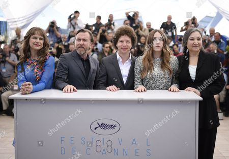(l-r) Mexican Actress Nailea Norvind British Actor Tim Roth Mexican Director Michel Franco Us Actress Sarah Sutherland and Us Actress Robin Bartlett Pose During the Photocall For 'Chronic' at the 68th Annual Cannes Film Festival in Cannes France 22 May 2015 the Movie is Presented in the Official Competition of the Festival Which Runs From 13 to 24 May France Cannes