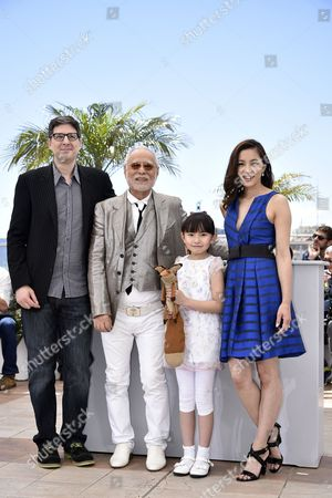 (l-r) Us Director Mark Osborne Japanese Actor Masahiko Tsugawa Japanese Actress Rio Suzuki and Japanese Actress Asaka Seto Pose During the Photocall For 'The Little Prince' at the 68th Annual Cannes Film Festival in Cannes France 22 May 2015 the Movie is Presented out of Competition at the Festival Which Runs From 13 to 24 May France Cannes