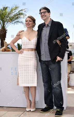 Belgian Actress Charlotte Vandermeersch (l) and Us Director Mark Osborne (r) Pose During the Photocall For 'The Little Prince' at the 68th Annual Cannes Film Festival in Cannes France 22 May 2015 the Movie is Presented out of Competition at the Festival Which Runs From 13 to 24 May France Cannes