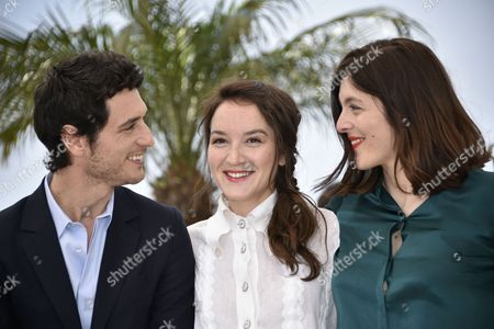 (l-r) French Actor Jeremie Elkaim French Actress Anais Demoustier and French Director Valerie Donzelli Pose During the Photocall For 'Marguerite and Julien' at the 68th Annual Cannes Film Festival in Cannes France 19 May 2015 the Movie is Presented in the Official Competition of the Festival Which Runs From 13 to 24 May France Cannes