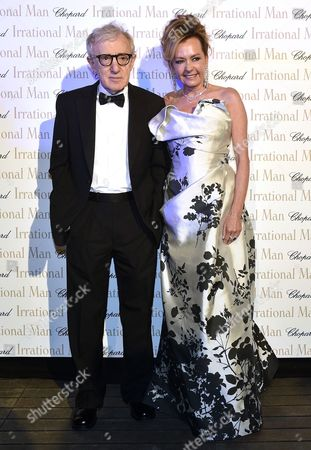 Us Director Woody Allen (l) and Vice-president of Chopard Caroline Gruosi-scheufele (r) Attend the 'Irrational Man' Party During the 68th Annual Cannes Film Festival in Cannes France 15 May 2014 the Movie was Presented out of Competition at the Festival Which Runs From 13 to 24 May France Cap D'antibes