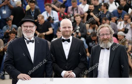 Stock Photo of (l-r) Icelandic Actor Theodor Juliusson Icelandic Director Grimur Hakonarson and Icelandic Actor Sigurdur Sigurjonsson Pose During the Photocall For 'Hrutar' (rams) at the 68th Annual Cannes Film Festival in Cannes France 15 May 2015 the Movie is Presented in the Section Un Certain Regard of the Festival Which Runs From 13 to 24 May France Cannes