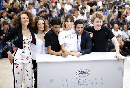 (l-r) French Actress Chrystele Saint Louis Augustin French Actress Amanda Added French Actor Nabil Kechouhen French Director Maiwenn French Actor Abdel Addala and French Actor Norman Thavaud Pose During the Photocall For 'Mon Roi' at the 68th Annual Cannes Film Festival in Cannes France 17 May 2015 the Movie is Presented in the Official Competition of the Festival Which Runs From 13 to 24 May France Cannes