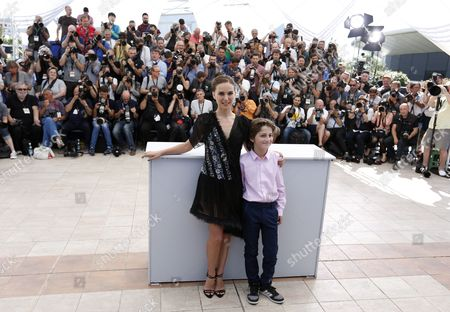 (l-r) Us Actress and Director Natalie Portman and Israeli Actor Amir Tessler Pose During the Photocall For 'Tale of Love and Darkness' at the 68th Annual Cannes Film Festival in Cannes France 17 May 2015 the Movie is Presented in the Section Special Screenings of the Festival Which Runs From 13 to 24 May France Cannes