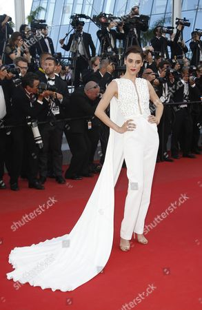 Stock Picture of Turkish Model Cansu Dere Arrives For the Screening of 'Inside Out' During the 68th Annual Cannes Film Festival in Cannes France 18 May 2015 the Movie is Presented out of Competition at the Festival Which Runs From 13 to 24 May France Cannes