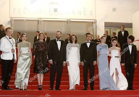 (l-r) Us Actor John C Reilly Greek Actress Angeliki Papoulia French Actress Ariane Labed Greek Director Yorgos Lanthimos British Actress Rachel Weisz Irish Actor Colin Farrell French Actress Lea Seydoux British Actress Jessica Barden and British Actor Ben Whishaw Arrive For the Screening of 'The Lobster' During the 68th Annual Cannes Film Festival in Cannes France 15 May 2015 the Movie is Presented in the Official Competition of the Festival Which Runs From 13 to 24 May France Cannes