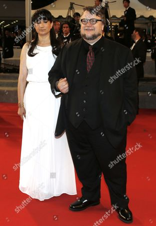Jury Member Mexican Director Guillermo Del Toro (r) and Wife Lorenza Newton (l) Arrive For the Screening of 'Shan He Gu Ren' (mountains May Depart) During the 68th Annual Cannes Film Festival in Cannes France 20 May 2015 the Movie is Presented in the Official Competition of the Festival Which Runs From 13 to 24 May France Cannes