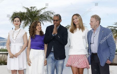 Jury Members (l-r) French Director Rebecca Zlotowski Lebanese Director Jonas Hadjithomas Mauritanian Director Abderrahmane Sissako Belgian Actress Cecile De France and Polish Actor Daniel Olbrychski Pose During the Cinefondation and Short Films Jury Photocall at the 68th Annual Cannes Film Festival in Cannes France 21 May 2015 the Festival Runs From 13 to 24 May France Cannes