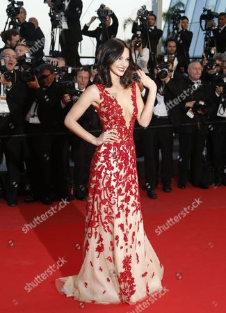 Stock Photo of Miss Switzerland 2014 Laetitia Guarino Arrives For the Screening of 'The Sea of Trees' During the 68th Annual Cannes Film Festival in Cannes France 16 May 2015 the Movie is Presented in the Official Competition of the Festival Which Runs From 13 to 24 May France Cannes