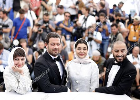 Stock Image of (l-r) Iranian Director Ida Panahandeh Iranian Actor Pejman Bazeghi Iranian Actress Sareh Bayat and Iranian Actor Navid Mohammadzadeh Pose During the Photocall For 'Nahid' at the 68th Annual Cannes Film Festival in Cannes France 17 May 2015 the Movie is Presented in the Section Un Certain Regard of the Festival Which Runs From 13 to 24 May France Cannes