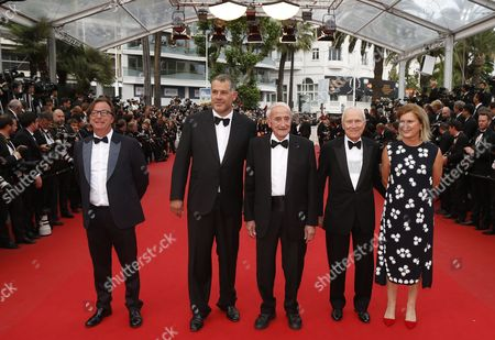 (2l-r) French Director Luc Jacquet French Glaciologist Claude Lorius French Producer Jerome Seydoux Actress Sophie Seydoux and Guest Arrive For the Screening of 'La Glace Et Le Ciel' (ice and the Sky) and the Closing Award Ceremony of the 68th Annual Cannes Film Festival in Cannes France 24 May 2015 the Festival Closes with the Screening of the Movie Presented out of Competition France Cannes