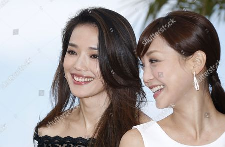 Stock Image of Taiwanese Actress Shu Qi (l) and Taiwanese Actress Hsieh Hsin-ying (r) Pose During the Photocall For 'Nie Yinniang' (the Assassin) at the 68th Annual Cannes Film Festival in Cannes France 21 May 2015 the Movie is Presented in the Official Competition of the Festival Which Runs From 13 to 24 May France Cannes