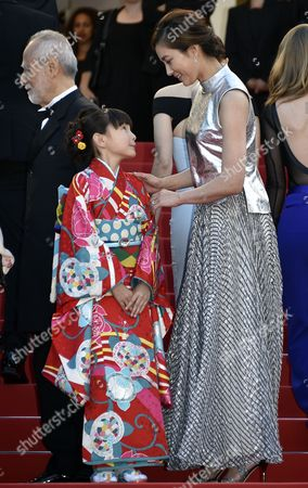 Japanese Actress Asaka Seto (r) and Japanese Actress Rio Suzuki (l) Arrive For the Screening of 'The Little Prince' During the 68th Annual Cannes Film Festival in Cannes France 22 May 2015 the Movie is Presented out of Competition at the Festival Which Runs From 13 to 24 May France Cannes