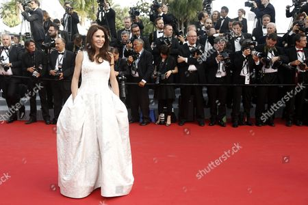 Lebanese-born French Socialite Mouna Ayoub Arrives For the Screening of 'La Tete Haute' (standing Tall) and the Opening Ceremony of the 68th Annual Cannes Film Festival in Cannes France 13 May 2015 Presented out of Competition the Movie Opens the Festival Which Runs From 13 to 24 May France Cannes