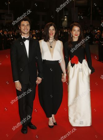 (l-r) French Actor Jeremie Elkaim French Director Valerie Donzelli and French Actress Anais Demoustier Arrive For the Screening of 'Marguerite and Julien' During the 68th Annual Cannes Film Festival in Cannes France 19 May 2015 the Movie is Presented in the Official Competition of the Festival Which Runs From 13 to 24 May France Cannes