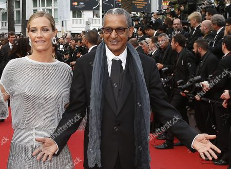 Belgian Actress Cecile De France and Mauritanian Director Abderrahmane Sissako Arrive For the Screening of 'La Glace Et Le Ciel' (ice and the Sky) and the Closing Award Ceremony of the 68th Annual Cannes Film Festival in Cannes France 24 May 2015 the Festival Closes with the Screening of the Movie Presented out of Competition France Cannes