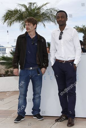 French Actor Marc Zinga (r) and French Actor Vincent Rottiers (l) Pose During the Photocall For 'Dheepan' at the 68th Annual Cannes Film Festival in Cannes France 21 May 2015 the Movie is Presented in the Official Competition of the Festival Which Runs From 13 to 24 May France Cannes