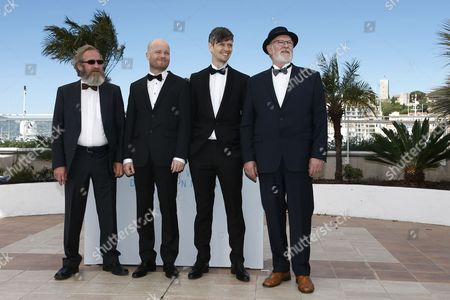 (l-r) Icelandic Actor Sigurdur Sigurjonsson Icelandic Director Grimur Hakonarson Norwegian Cinematographer Sturla Brandth Grovlen and Icelandic Actor Theodor Juliusson Pose During the Photocall For 'Hrutar' (rams) at the 68th Annual Cannes Film Festival in Cannes France 15 May 2015 the Movie is Presented in the Section Un Certain Regard of the Festival Which Runs From 13 to 24 May France Cannes