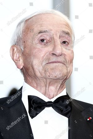 Stock Image of French Glaciologist Claude Lorius Arrives For the Screening of 'La Glace Et Le Ciel' (ice and the Sky) and the Closing Award Ceremony of the 68th Annual Cannes Film Festival in Cannes France 24 May 2015 the Festival Closes with the Screening of the Movie Presented out of Competition France Cannes