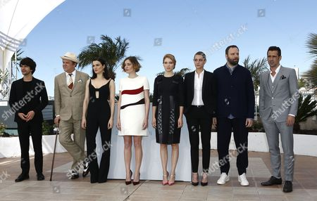 (l-r) British Actor Ben Whishaw Us Actor John C Reilly British Actress Rachel Weisz Greek Actress Angeliki Papoulia French Actress Lea Seydoux French Actress Ariane Labed Greek Director Yorgos Lanthimos and Irish Actor Colin Farrell Pose During the Photocall For 'The Lobster' at the 68th Annual Cannes Film Festival in Cannes France 15 May 2015 the Movie is Presented in the Official Competition of the Festival Which Runs From 13 to 24 May France Cannes