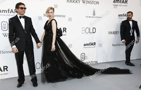 Producer Jean-david Blanc (l) and Australian Actress Melissa George (c) Attend the Cinema Against Aids Amfar Gala 2015 Held at the Hotel Du Cap Eden Roc in Cap D'antibes France 21 May 2015 Within the Scope of the 68th Annual Cannes Film Festival That Runs From 13 to 24 May France Cap D'antibes
