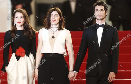 (l-r) French Actress Anais Demoustier French Director Valerie Donzelli and French Actor Jeremie Elkaim Arrive For the Screening of 'Marguerite and Julien' During the 68th Annual Cannes Film Festival in Cannes France 19 May 2015 the Movie is Presented in the Official Competition of the Festival Which Runs From 13 to 24 May France Cannes