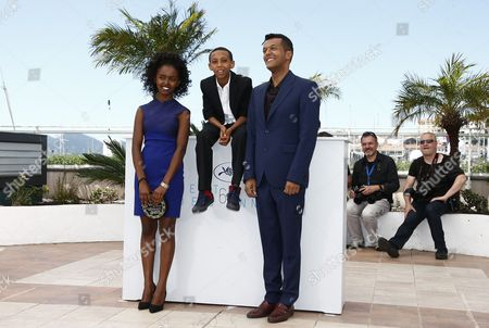 Stock Picture of (l-r) Ethiopian Actress Kidist Siyum Ethiopian Actor Rediat Amare and Ethiopian Director Yared Zeleke Pose During the Photocall For 'Lamb' at the 68th Annual Cannes Film Festival in Cannes France 20 May 2015 the Movie is Presented in the Section Un Certain Regard of the Festival Which Runs From 13 to 24 May France Cannes
