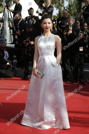 Chinese Actress Yang Zishan Arrives For the Screening of 'Mia Madre' (my Mother) During the 68th Annual Cannes Film Festival in Cannes France 16 May 2015 the Movie is Presented in the Official Competition of the Festival Which Runs From 13 to 24 May France Cannes