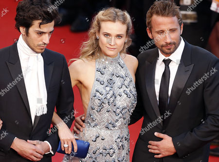 (l-r) French Dj Gesaffelstein German Actress Diane Kruger and Belgian Actor Matthias Schoenaerts Arrive For the Screening of 'The Sea of Trees' During the 68th Annual Cannes Film Festival in Cannes France 16 May 2015 the Movie is Presented in the Official Competition of the Festival Which Runs From 13 to 24 May France Cannes