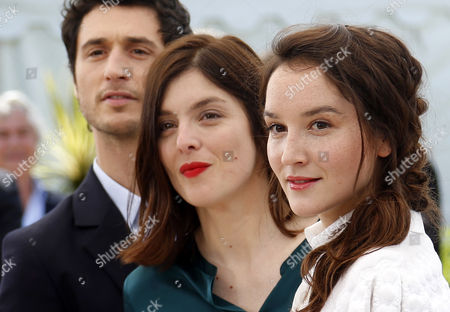 (l-r) French Actor Jeremie Elkaim French Director Valerie Donzelli and French Actress Anais Demoustier Pose During the Photocall For 'Marguerite and Julien' at the 68th Annual Cannes Film Festival in Cannes France 19 May 2015 the Movie is Presented in the Official Competition of the Festival Which Runs From 13 to 24 May France Cannes