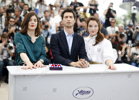 (l-r) French Director Valerie Donzelli French Actor Jeremie Elkaim and French Actress Anais Demoustier Pose During the Photocall For 'Marguerite and Julien' at the 68th Annual Cannes Film Festival in Cannes France 19 May 2015 the Movie is Presented in the Official Competition of the Festival Which Runs From 13 to 24 May France Cannes