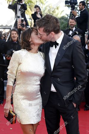 French Actress Emma De Caunes (l) and Husband British Cartoonist Jamie Hewlett (r) Kiss As They Arrive For the Screening of 'Youth' During the 68th Annual Cannes Film Festival in Cannes France 20 May 2015 the Movie is Presented in the Official Competition of the Festival Which Runs From 13 to 24 May France Cannes